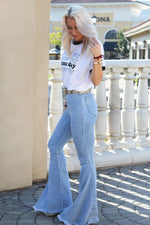 Super Flare Denim Jeans - Light Wash