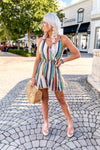 Take Me To Paradise Multi Striped Romper - Shop Kendry Collection Boutique