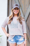Taupe Knit Light Weight Sweater - Shop Kendry Collection Boutique