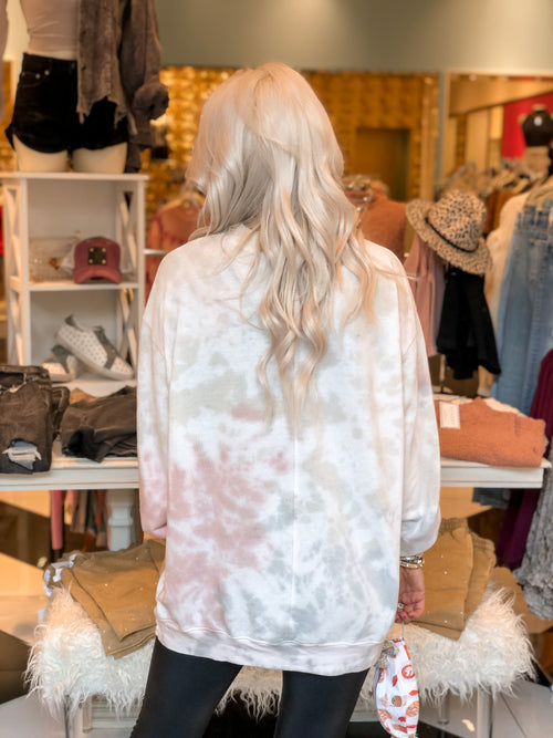 Taupe Tie Dye Sweatshirt - Shop Kendry Collection Online Boutique