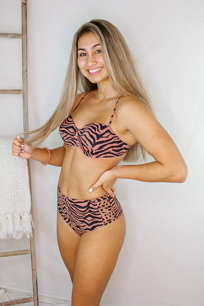 Tiger Print Two Piece Bikini Swimsuit - Shop Kendry Collection Boutique