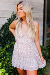White Leopard Ruffle Mini Dress - Shop Kendry Collection Online Boutique