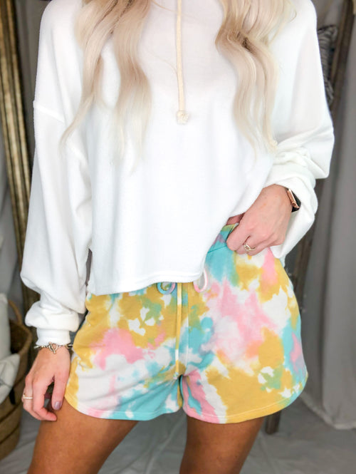 Colorful Tie Dye Lounge Shorts - Kendry Collection Boutique
