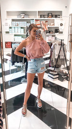 One Shoulder Sweatshirt - Pink - Kendry Collection Online Boutique