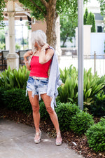 Red Smocked Tube Top - Shop Kendry Collection Boutique