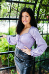 Lavender Silky Smocked Long Sleeve Top - Kendry Collection Boutique