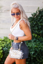 Star Studded Clear Crossbody Game Day Purse