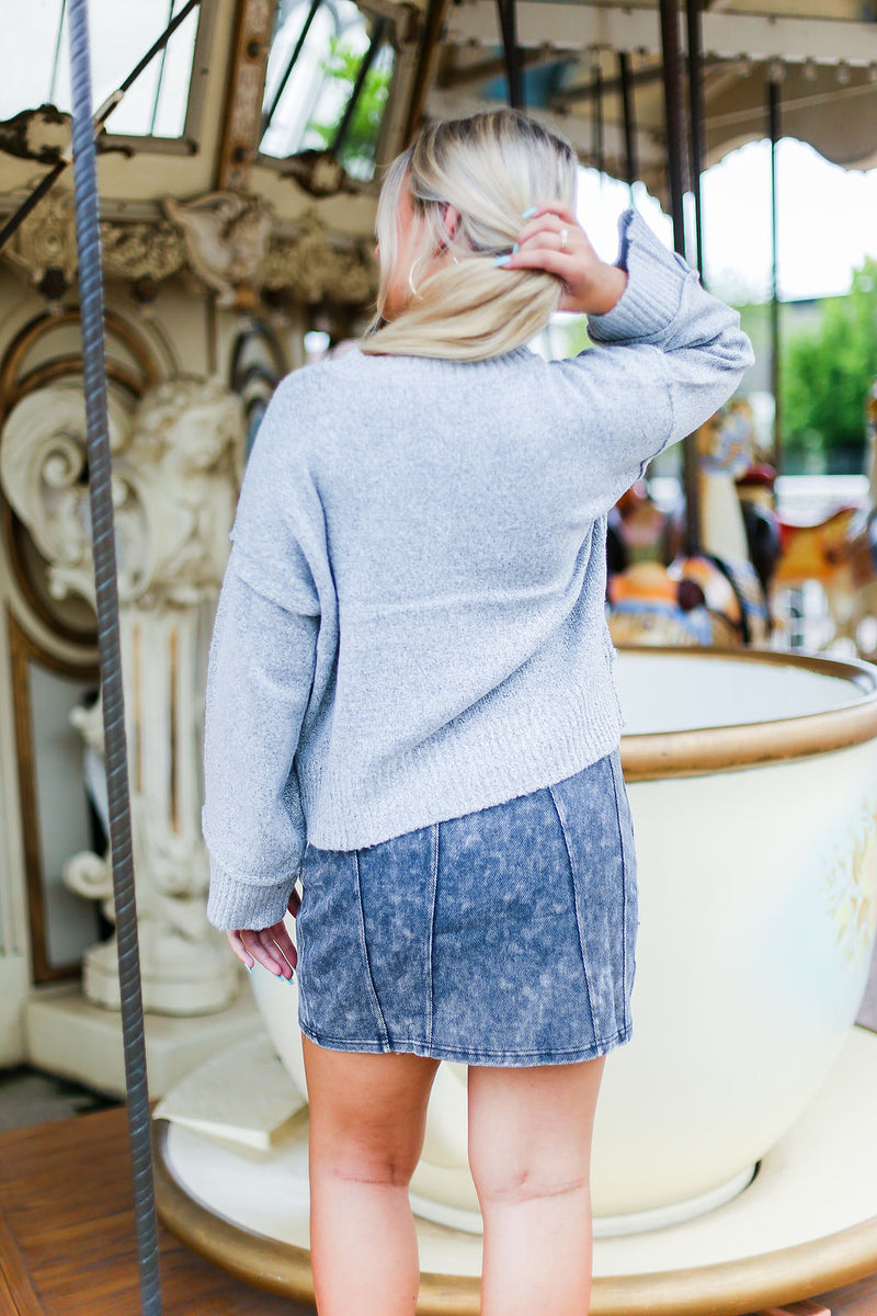Black Acid Wash Denim Mini Skirt - Shop Kendry Collection Boutique