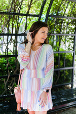 Multicolor Smocked Dress