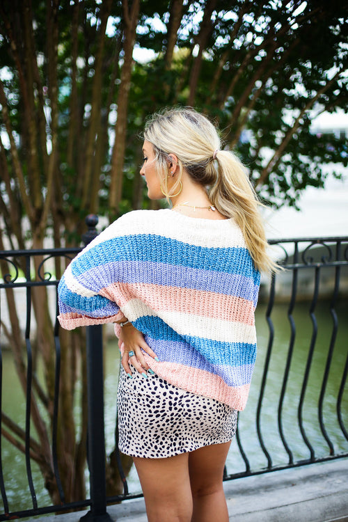 Multi Color Striped Sweater - Shop Kendry Collection Boutique