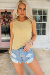 Party Starter High Waisted Distressed Denim Shorts - Medium Wash - Kendry Collection Boutique