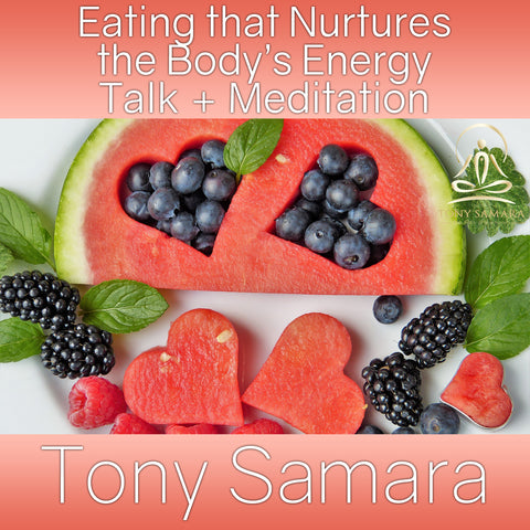 Eating that Nurtures the Body's Energy Talk + Meditation (MP3 Audio Download) - Tony Samara Meditation