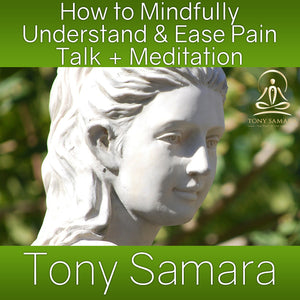 How to Mindfully Understand & Ease Pain Talk + Meditation (MP3 Audio Download) - Tony Samara Meditation