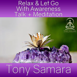 Relax & Let Go With Awareness Talk + Meditation (MP3 Audio Download) - Tony Samara Meditation