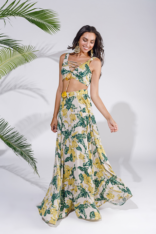 The Jungle skirt and bustier