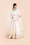WITH LOVE WHITE MIRROR DUPATTA