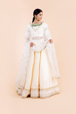 'WITH LOVE' WHITE MIRROR DUPATTA