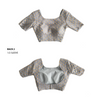 DEVINA TOP IN BLUE GREY