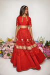 JIND RED HIERARCHY SKIRT