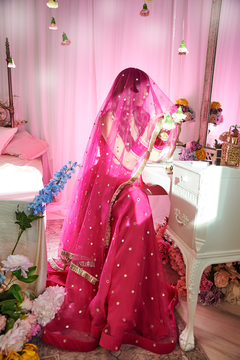 INDIAN PINK MONACO DUPATTA