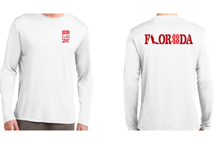 White Long Sleeve Quick-Dry Work Shirt - FL Logo