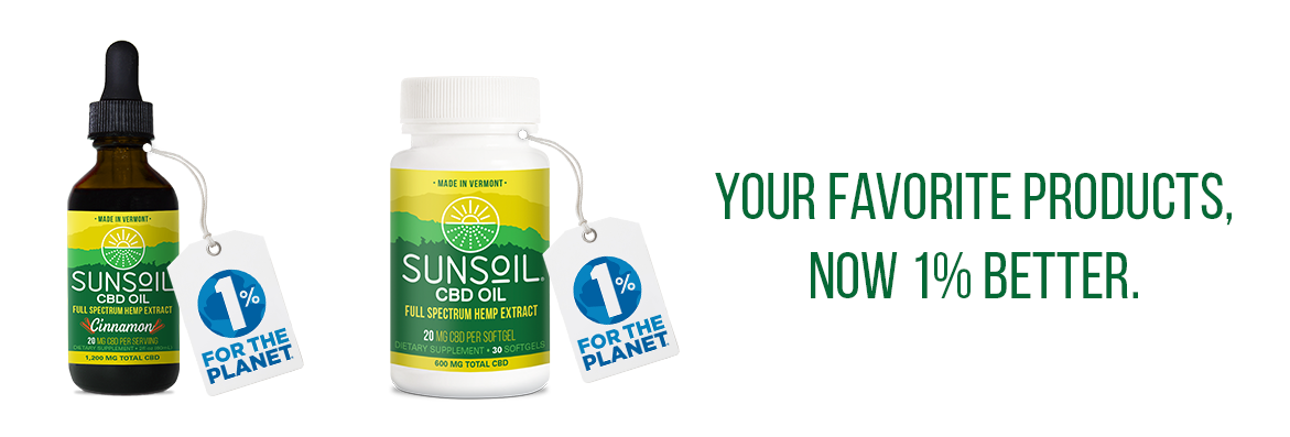 Sunsoil CBD Products  Support 1% for the Planet