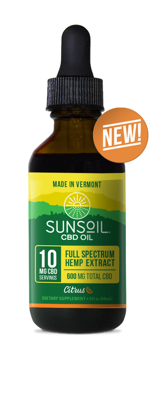 CITRUS CBD OIL - SUNSOIL - 10 MG CBD / ML - 600 MG TOTAL