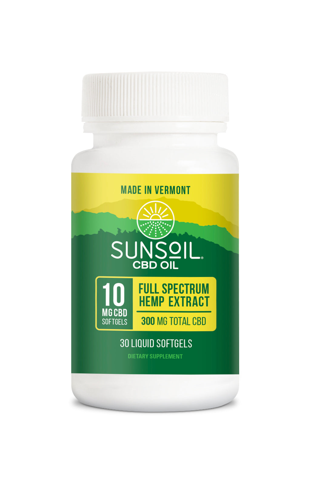 Sunsoil CBD Oil - 10 MG CBD Softgel