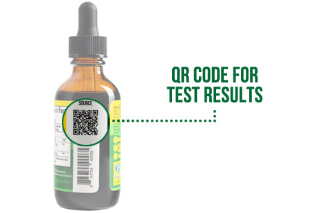 Sunsoil CBD Oil QR Code for Lab Results - How to Read a Sunsoil CBD Label