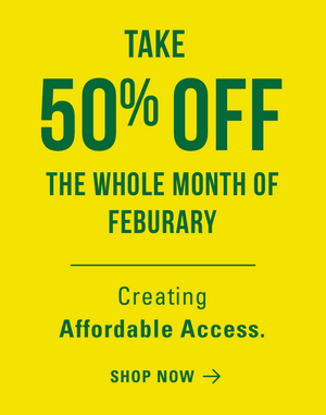 Take 50% off the whole month of February