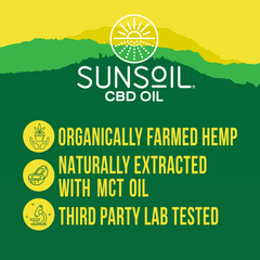 CBD OIL - UNFLAVORED - 600 MG CBD SUNSOIL FULL SPECTRUM CBD