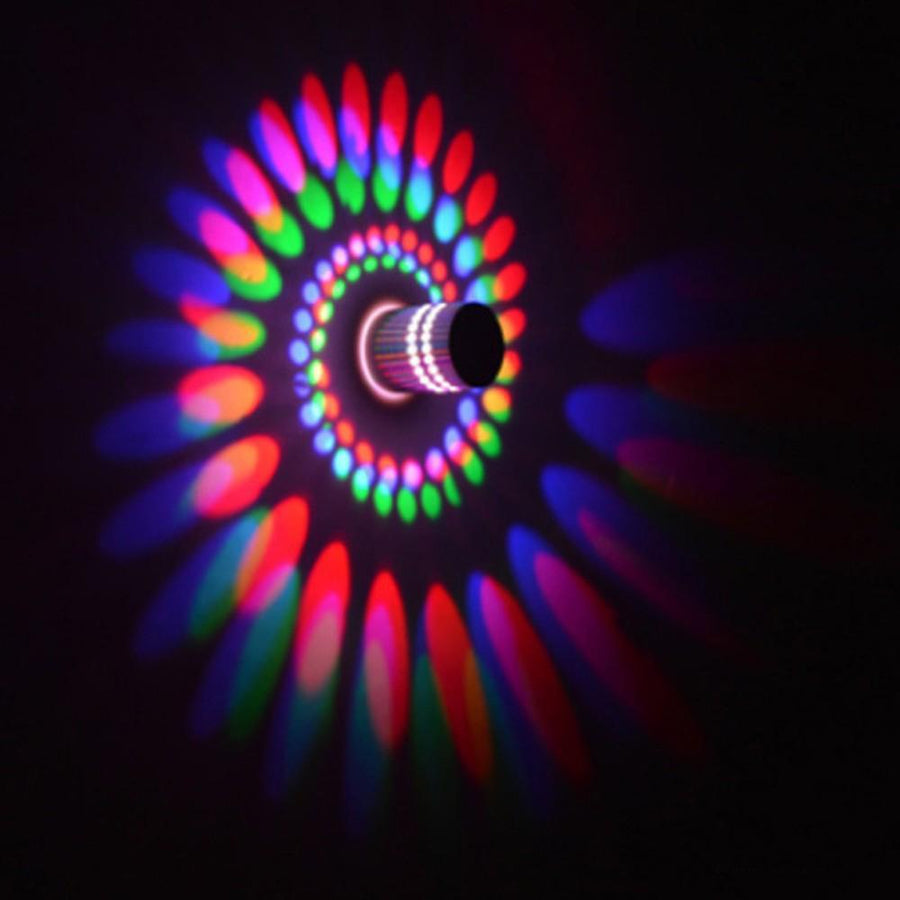 RGB Spiral LED Wall Light - Remote Controlled