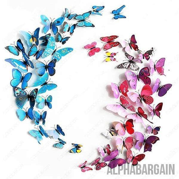 3D Butterfly Wall Stickers - Buy 3 Get 1 FREE!
