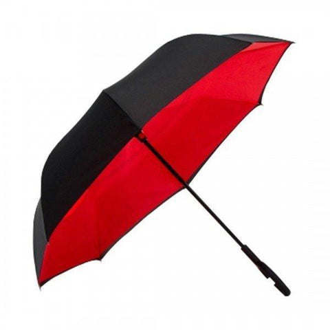 Image of Mega Red DOUBLE LAYER C-SHAPED HANDLE REVERSIBLE UMBRELLA Alpha Bargain