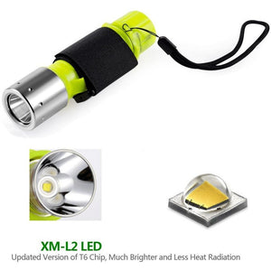 Parallax 1100 Lumen XM-L2 Professional Diving Flashlight - Alpha Bargain