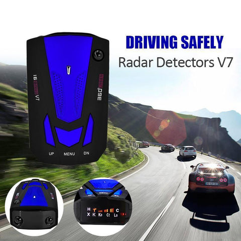 Image of AlphaTek 360 Degree Laser/Radar Detector With Voice Alert Warning Radar Detectors Eunavi Official Store Blue
