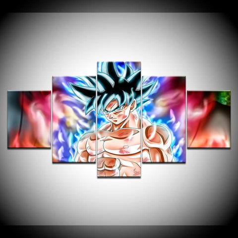 Image of Dragon Ball Goku Ultra Instinct Canvas 5 piece Painting & Calligraphy Alpha Bargain