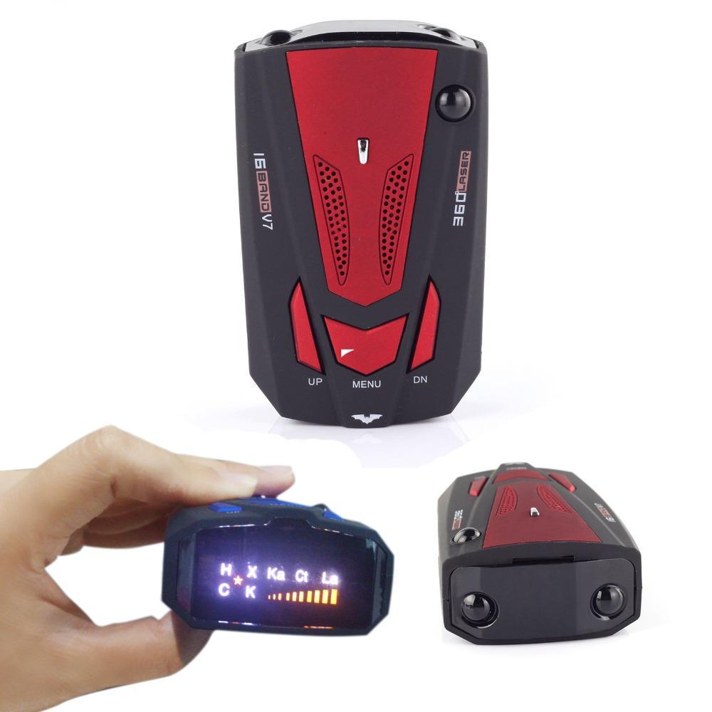AlphaTek 360 Degree Laser/Radar Detector With Voice Alert Warning Radar Detectors Eunavi Official Store Red