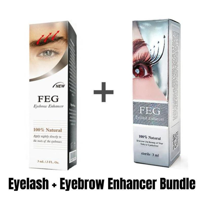 Eyelash Enhancer for Longer, Thicker & Fuller Lashes Eyelash Growth Treatments Ali-Popular Store 20% OFF FEG Eyelash + Eyebrow Enhancer Bundle