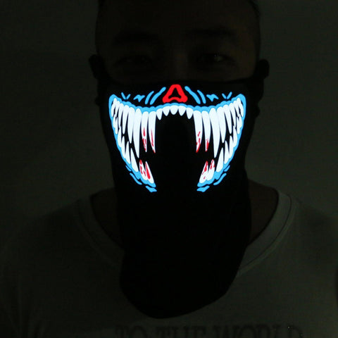 Image of TRON LED Masks Vital Survivalist Blue Fangs