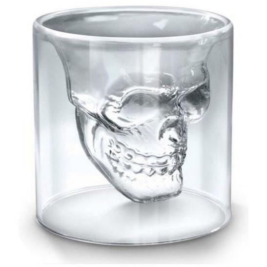 Skull Double Wall Glass Cup - Alpha Bargain