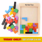 New Wooden TETRIS For All Ages - Alpha Bargain