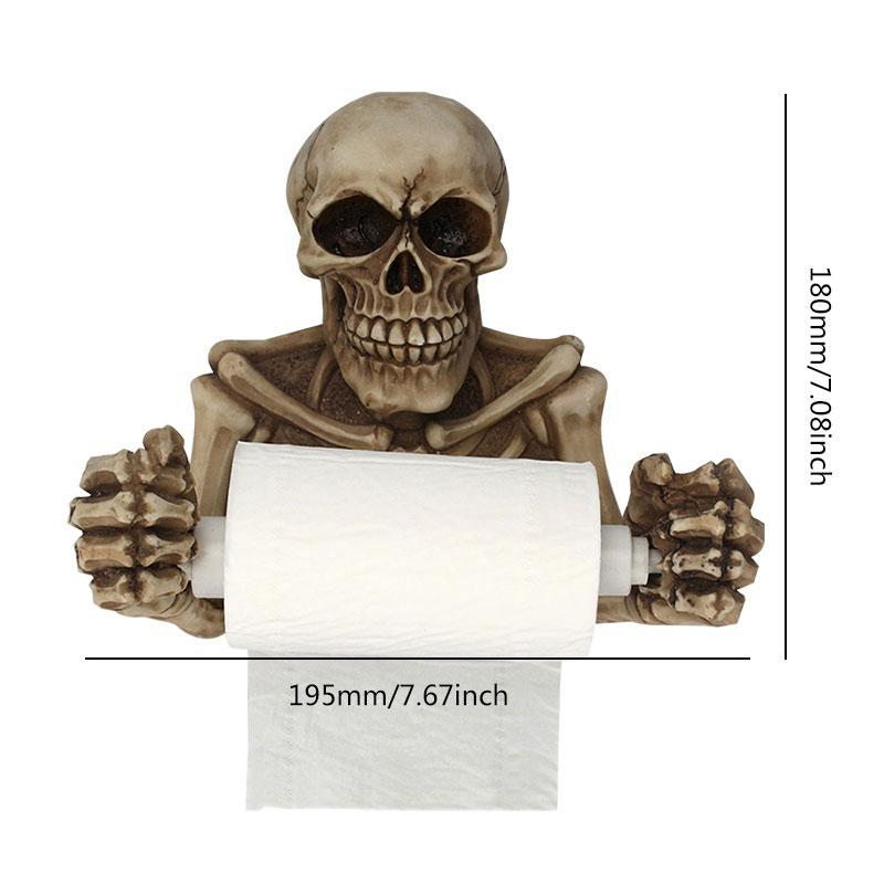 Skull Toilet Paper Wall Mount