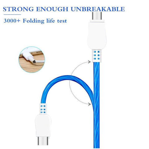 Image of SuperFlow USB LED Flow Charging Cable 2M Long Mobile Phone Chargers Alpha Bargain