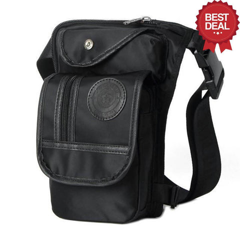 High Quality Leg Bag Alpha Bargain Black Nylon