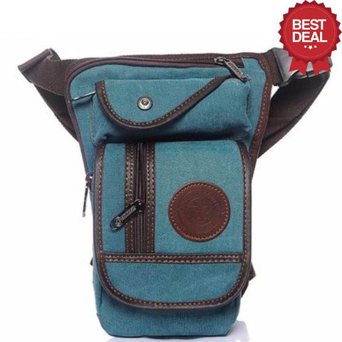Image of High Quality Leg Bag Alpha Bargain Light Blue