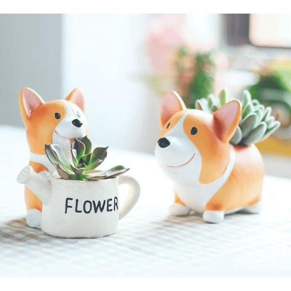 Mini Corgi Planter Pots Alpha Bargain