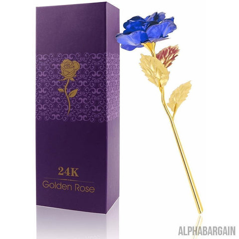 Image of 24K Gold Plated Rose Vital Survivalist Blue Rose
