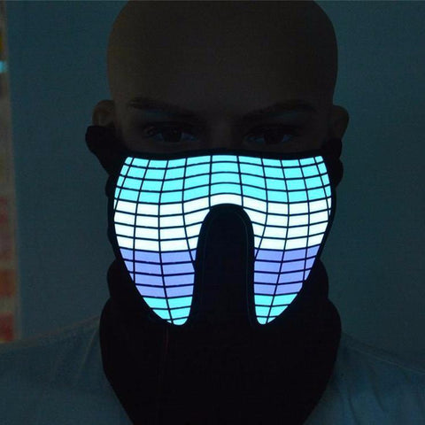 TRON LED Masks Vital Survivalist Purple/Blue Rave