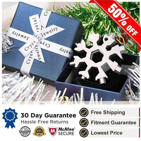 Image of Khaotic™ 18-in-1 Stainless Steel Snowflakes Multi-Tool Bicycle Repair Tools Light of movement Store